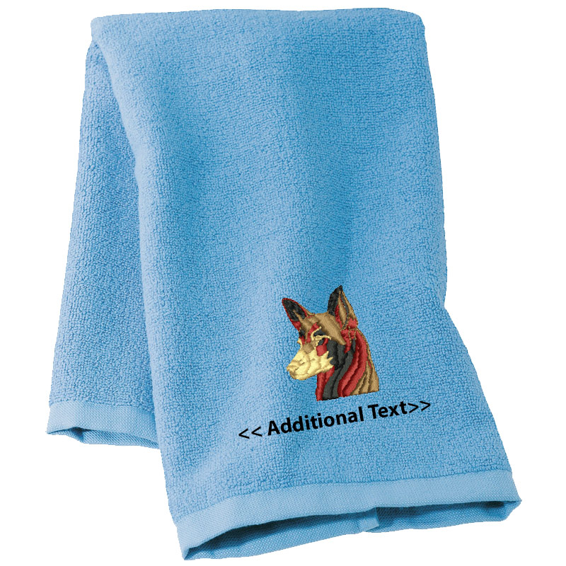 Embroidered Terry Cloth Hand Towels: Personalised Dog Custom Embroidered Terry Cotton Towel