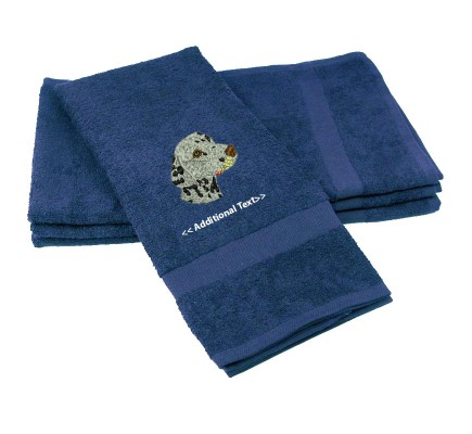 Personalised Dalmation Custom Embroidered Terry Cotton Towel