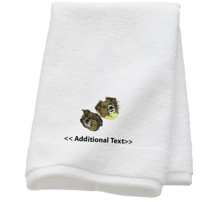 Personalised Dogs Custom Embroidered  Terry Cotton Towel