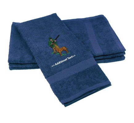Personalised Hunting Dog Custom Embroidered  Terry Cotton Towel