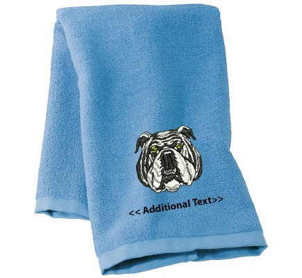 Personalised Dog Custom Embroidered Terry Cotton Towel