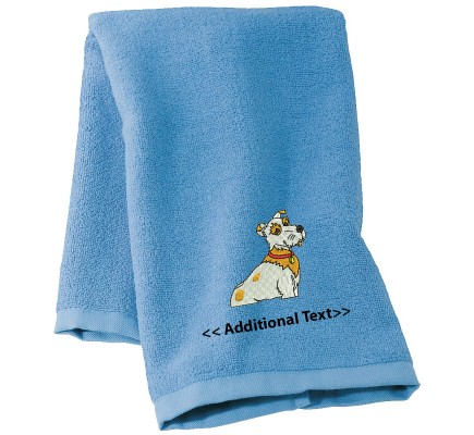 Personalised Dog Embroidered Towels Terry Cotton Towel