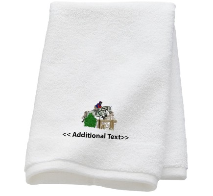 Personalised Horse Large Custom Embroidered  Terry Cotton Towel