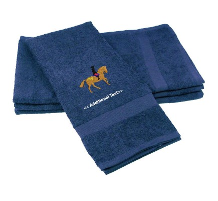 Personalised Horse and Rider Custom Embroidered  Terry Cotton Towel