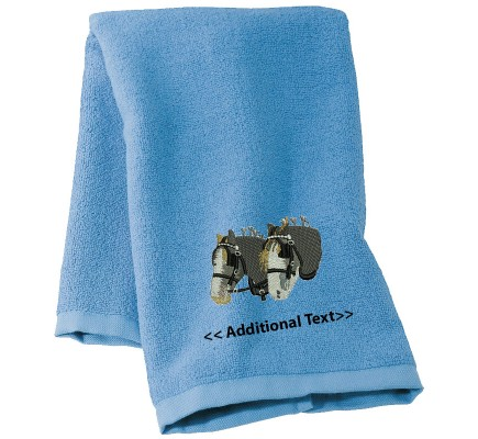 Personalised Horses Custom Embroidered  Terry Cotton Towel