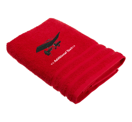 Personalised Microlight Military Terry Cotton Towel