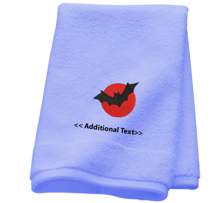 Personalised Bat  Custom Embroidered Terry Cotton Towel