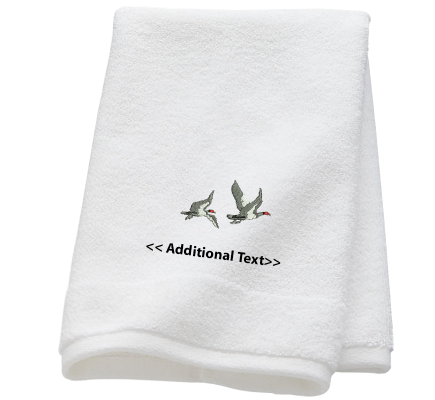 Personalised Birds Custom Embroidered Terry Cotton Towel