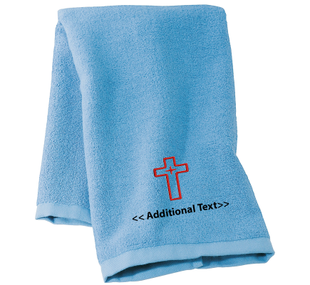 Personalised Cross Religious Towels Terry Cotton Towel