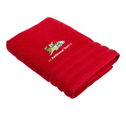 Personalised Cats Custom Embroidered Terry Cotton Towel