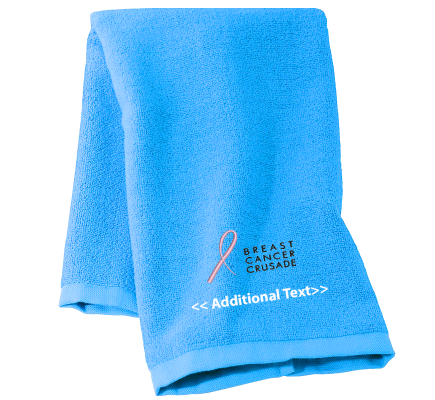 Personalised Breast Cancer Ribbon Personalised Towels Terry Cotton Towel