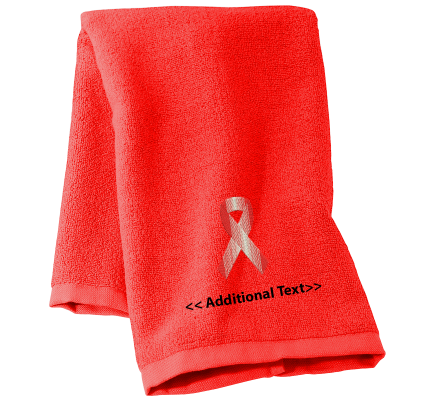 Personalised Awareness Ribbon Personalised Towels Terry Cotton Towel