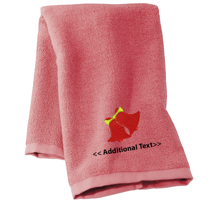 Personalised Bells Seasonal Towels Terry Cotton Towel