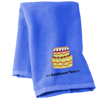 Personalised Birthday Cake Gift Towels Terry Cotton Towel