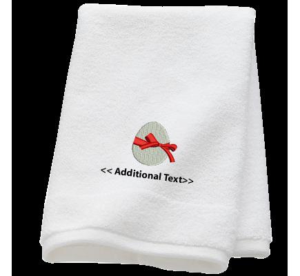 Personalised Easter Egg Seasonal Towels Terry Cotton Towel
