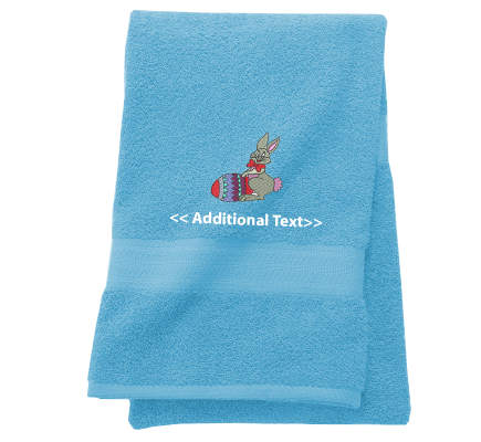 Personalised Easter Bunny Seasonal Towels Terry Cotton Towel