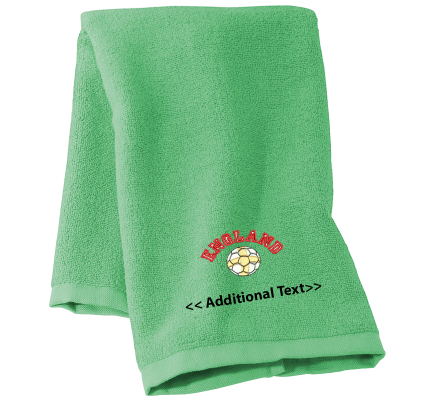 Personalised England Football Sports Towels Terry Cotton Towel