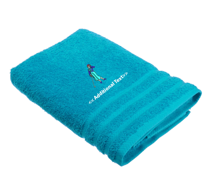 Personalised Female Golfer Sports Towels Terry Cotton Towel