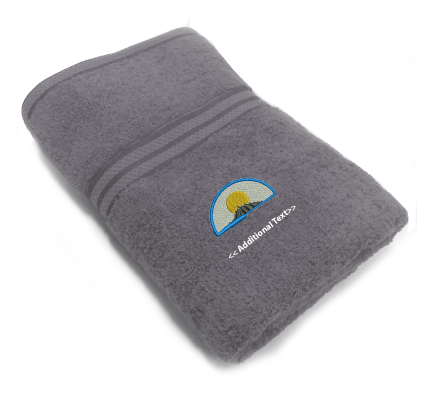 Personalised Mountain Custom Embroidered Terry Cotton Towel