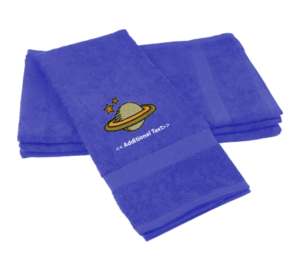 Personalised Saturn Custom Embroidered Terry Cotton Towel