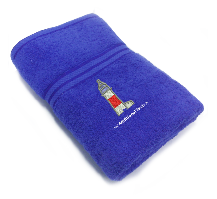 Personalised Light House Custom Embroidered Terry Cotton Towel