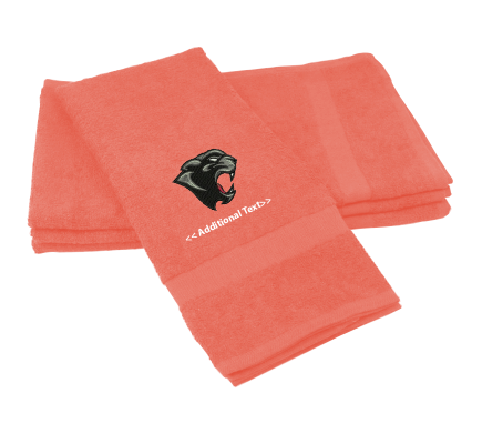 Personalised Panther Head Sports Towels Terry Cotton Towel