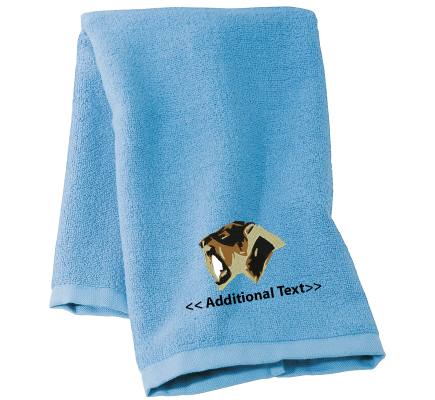 Personalised Sabertooth Tiger Large Sports Towels Terry Cotton Towel
