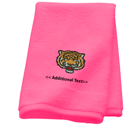 Personalised Tiger Sports Towels Terry Cotton Towel