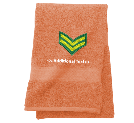 Personalised Corporal Stripe Military Towels  Terry Cotton Towel