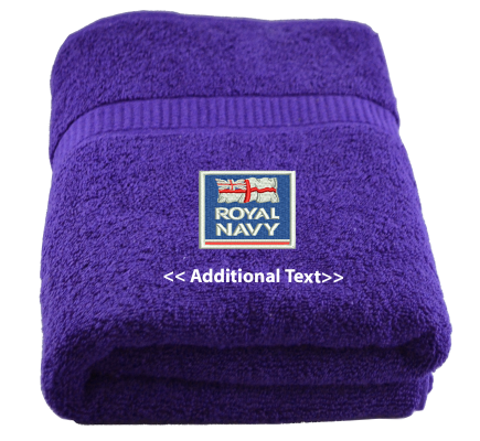 Personalised Royal Navy Military Towels Terry Cotton Towel