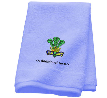 Personalised Prince of Wales Feathers  Military Towels Terry Cotton Towel