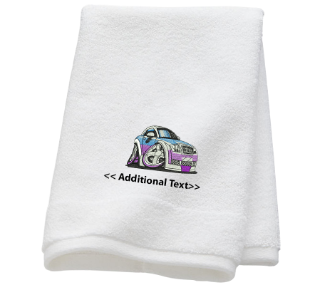 Personalised Audi Car Gift Towels Terry Cotton Towel