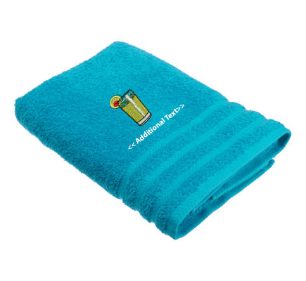 Personalised Drink Gift Towels Terry Cotton Towel