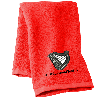 Personalised Harp Hobby Towels Terry Cotton Towel