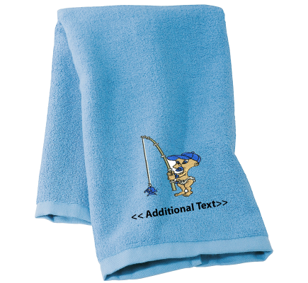 Personalised Baby Fishing Gift Towels Terry Cotton Towel