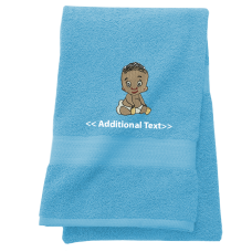 Personalised gifts newborn baby embroidered towels personalised baby gift towels terry cotton towel negle Gallery