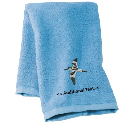 Personalised Bird Custom Embroidered Terry Cotton Towel