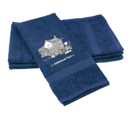 Personalised Farm House Custom Embroidered Terry Cotton Towel
