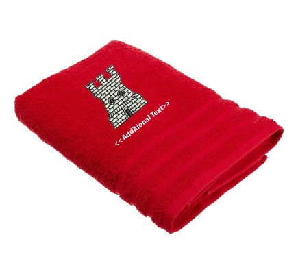 Personalised Castle Custom Embroidered Terry Cotton Towel