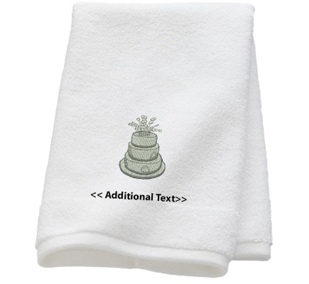 Personalised 3 Tier Cake Gift Towels Terry Cotton Towel