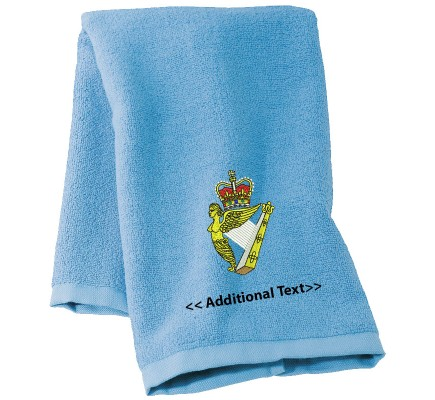 Personalised Royal Irish Regiment Military Towels Terry Cotton Towel