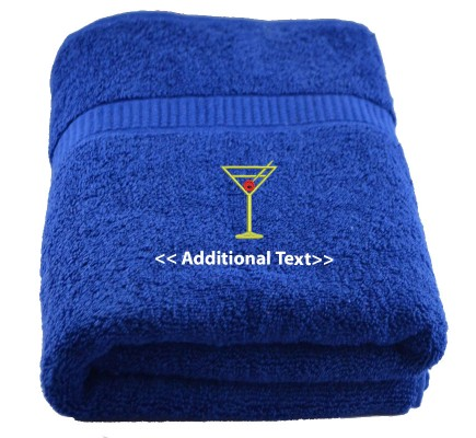 Personalised Wine  Gift Towels Terry Cotton Towel