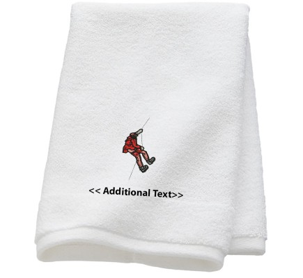 Personalised Abseiling  Sports Towels Terry Cotton Towel