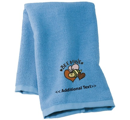 Personalised Be Mine Seasonal Towels Terry Cotton Towel