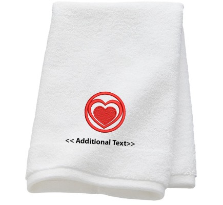 Personalised Circle Heart Seasonal Towels Terry Cotton Towel