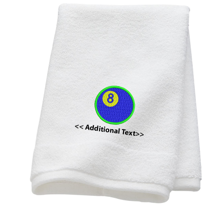 Personalised 8 Ball Sports Towels Terry Cotton Towel