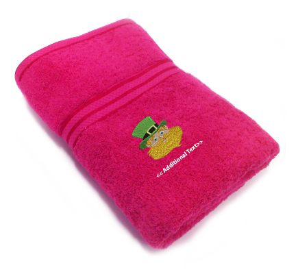 Personalised Leprechaun Seasonal Towels Terry Cotton Towel