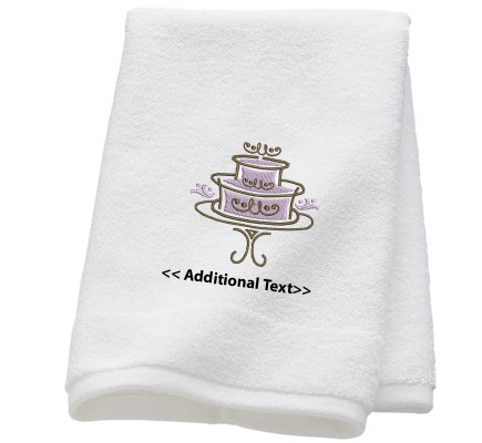 Personalised Wedding Cake Wedding Towel Terry Cotton Towel