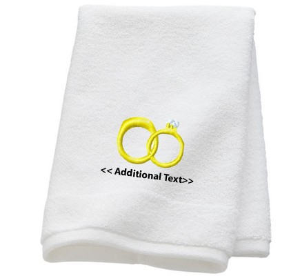 Personalised Wedding Rings Wedding Towels Terry Cotton Towel