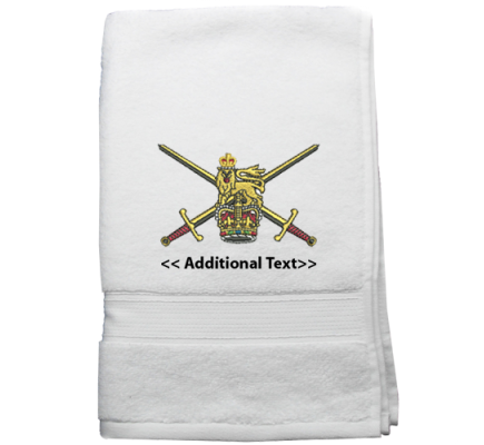 Personalised Army Military Terry Cotton Towel